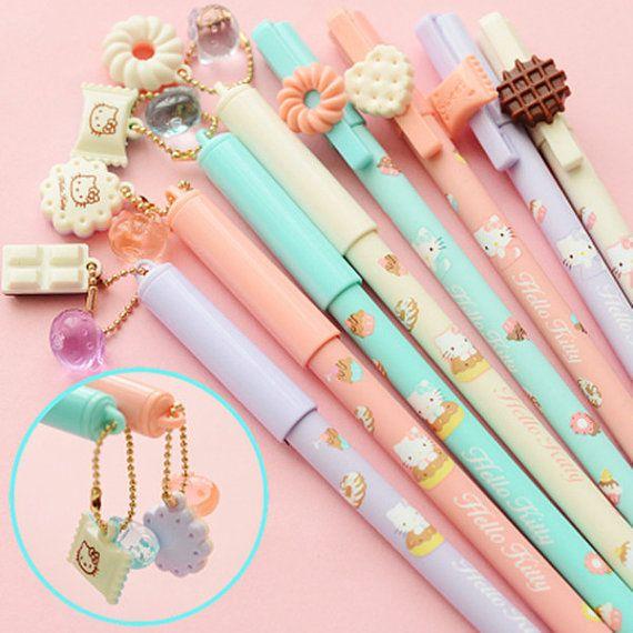 Dessert Pen Colorful pen Cute pen Lovely pen Gel by PokemonGarden