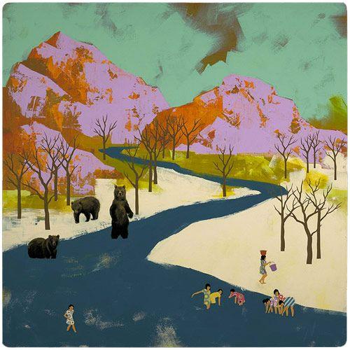 seonna hongSeonnahong, Art Pour, Art Inspiration, Illustration, Seonna Hong, Big Bears, Diyartsi Fartsy, Artists Seonna, Inspiration Painting