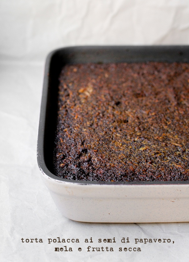 - VANIGLIA - storie di cucina: La torta scura che sapeva di nord, di mele e di inverno: Makowiec