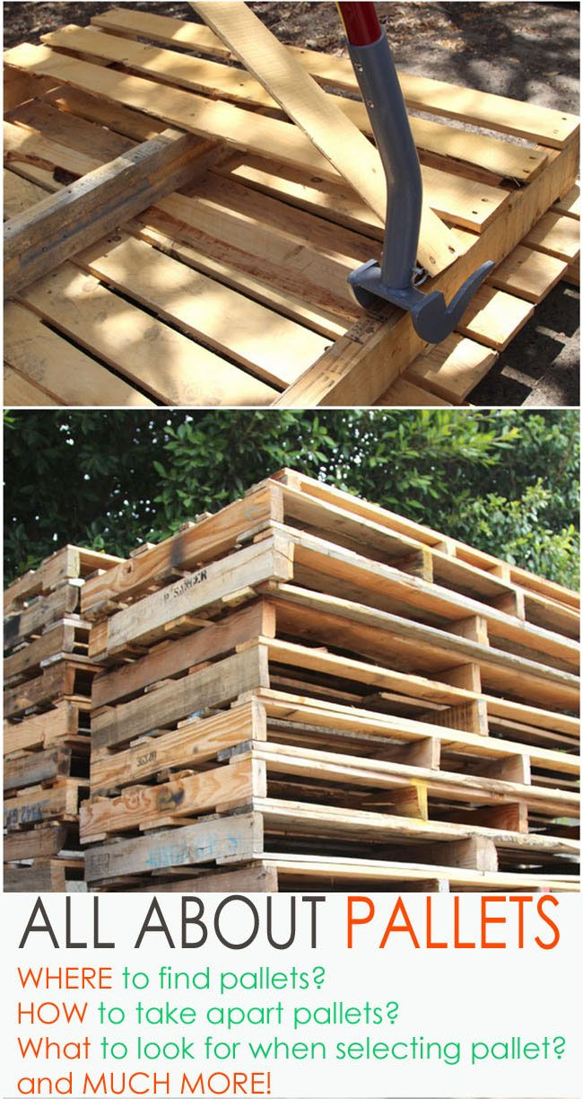 A detailed guide on where to find pallets and how to work with pallet wood. apieceofrainbow.com