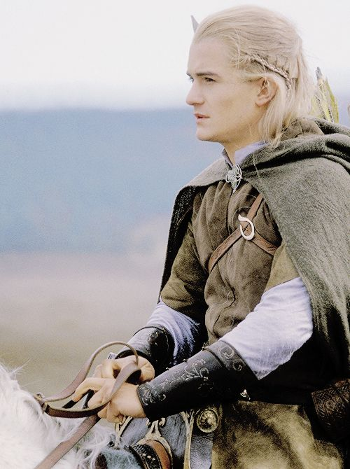 Orlando Bloom as Legolas. Fell in love with his character in the books -- he was portrayed very well in the movies as well.