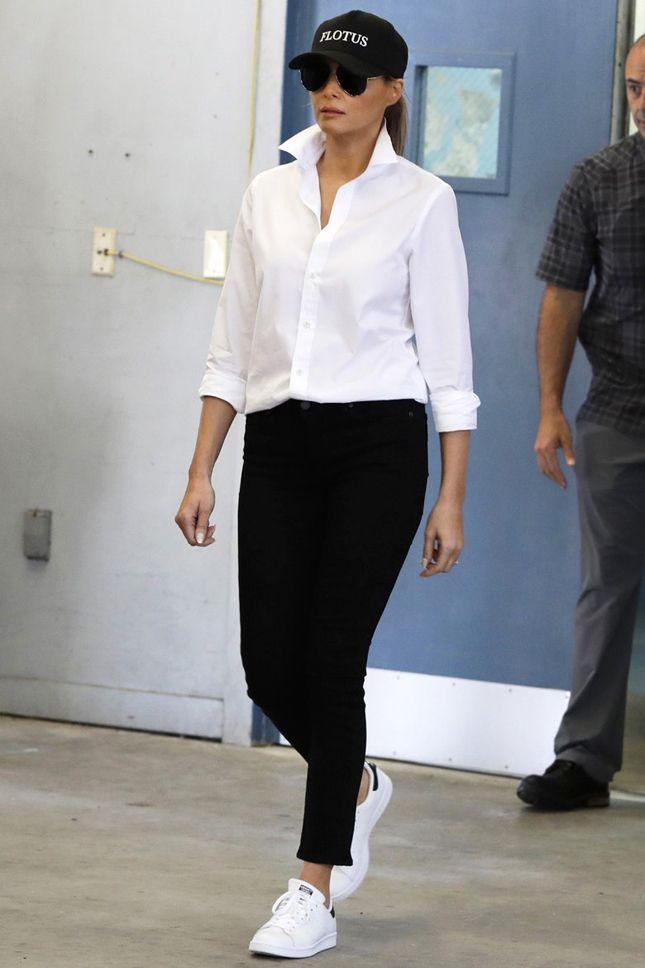 Мелания Трамп в кедах adidas Originals в Корпус-Кристи