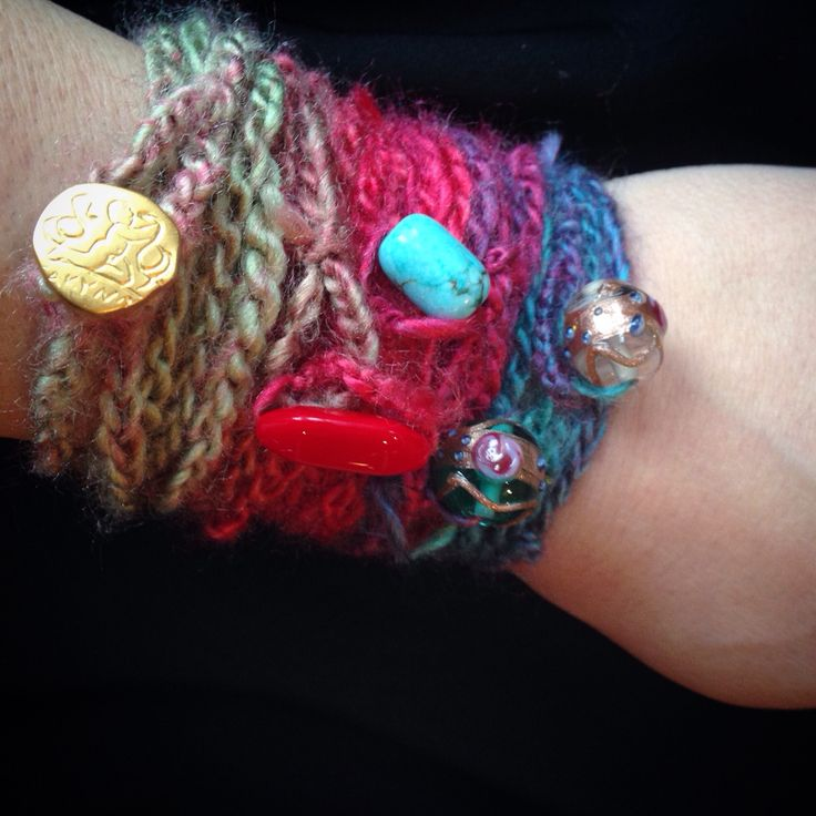 I'm so in love with these!! Crochet wrap bohemian layering bracelets!
