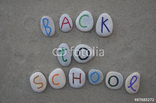 Back to School on carved stones