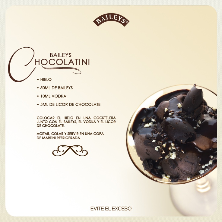 Baileys Chocolatini #recipes #drinks