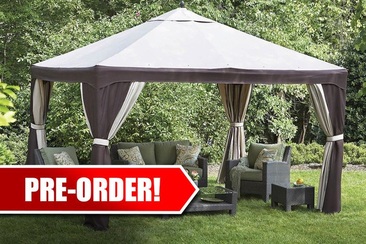 - Description Box Contents: (1) Replacement top Fabric: 150D Polyester Retailer: Lowe's Fits Model #: S-1210GZN Fits Item #: 57294 Owner's Manual: Download 10x12 Gazebo Canopy Owner's Manual We're her