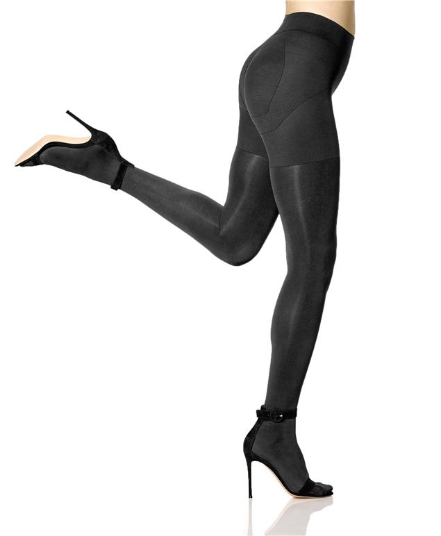 HUE Matte Opaque Shaping Tights [Opaque tights, shapewear, hue shapewear, shapers, waist cincher, body slimming, high waisted, party style, lifting tights, tights, tights outfit, slimming tights, shaping tights]