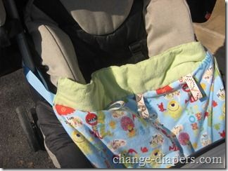 Add snaps to your child's blankie so that it can be attached to the stroller. Never worry about losing a blanket again! Snaps & tools available at www.KAMsnaps.com.