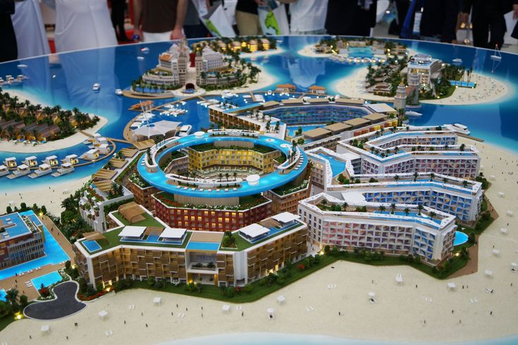 Main Europe Island, Dubai, developers 3D model