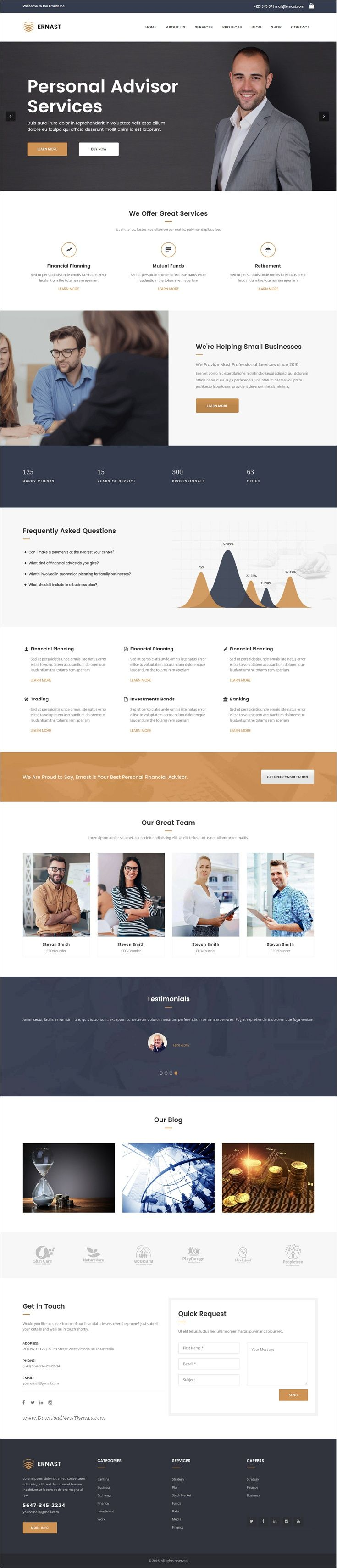 Emast is an awesome responsive 3in1 #WordPress theme for #finance, insurance, consulting and similar business website download now➩  https://themeforest.net/item/ernast-business-finance-theme/16590793?ref=Datasata