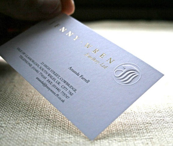gold hot foil business cards + embossing