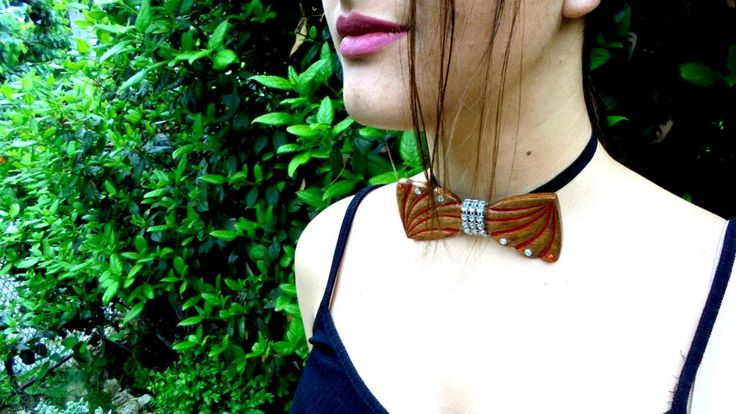 women's bow tie ,wooden women's bow tie, new product ,casual wear, formal,wooden bow tie, birthday gift,unique, gift,chocker,Accessories by DKexclusive on Etsy