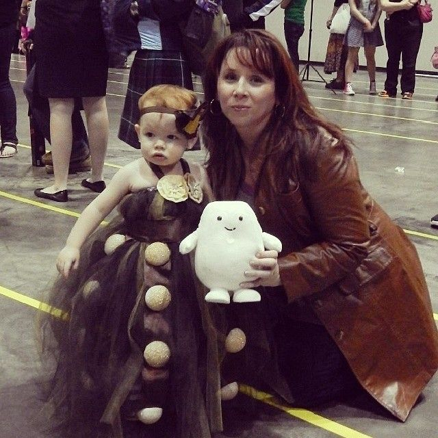 "Shared this photo from Pingram.com... somebody had taken this pic of our friend with the cutest Dalek ever!!  They wrote: ""Baby Dalek met Donna Noble! (seriously tho, how much does this look like Katherine Tate?!)"""