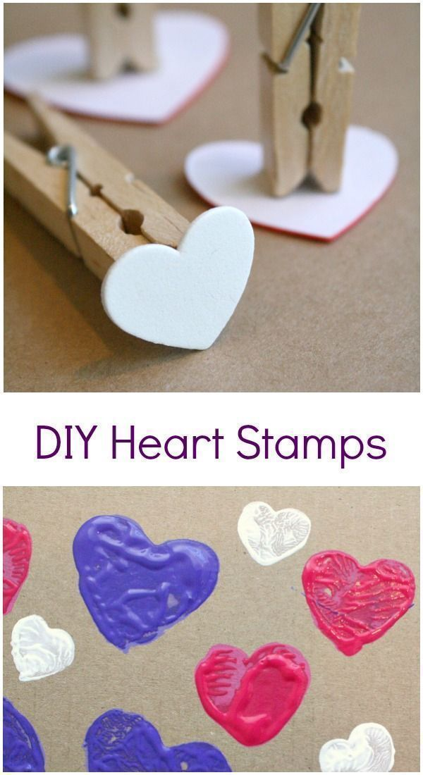 Diy Heart Stamp Art Preschool Ideas Pinterest Valentines