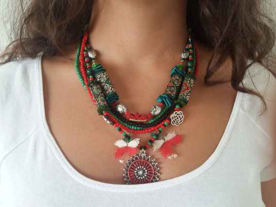 handmade necklace,stylish colorful beaded necklace,Design Necklace,bohemian jewelry,hippie style-hippie style,original necklace,