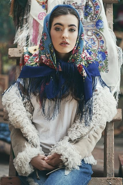 Tying floral square scarf, baroque style | Flickr - Photo Sharing!