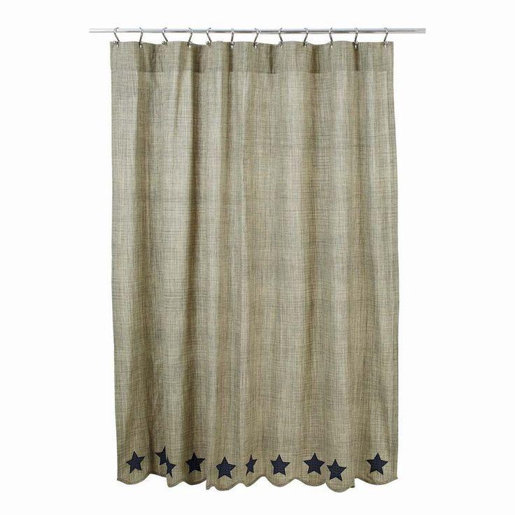 Primitive bathroom curtains