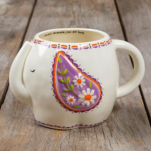 Get Your Natural Life Always Remember Elephant Folk Art Mug From  Elizabethu0027s Embellishments, One Of Our Many Coffee Mugs And Tea Cups.