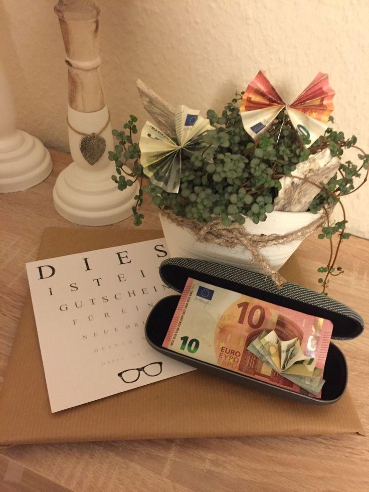 Geldgeschenk Gutschein f/ür eine Brille
