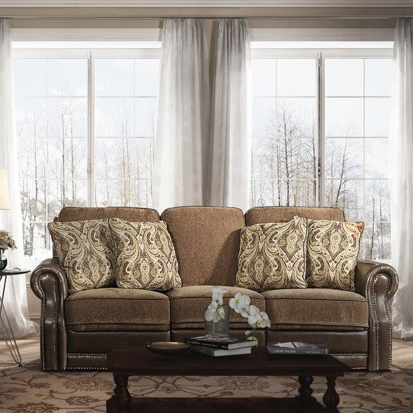 Covered In A Sophisticated Mixed Media Combination Of Soft Supple Leather And Luxurious Chenille Fabrics This Power Recli With Images Reclining Sofa Living Room Sofa Sofa