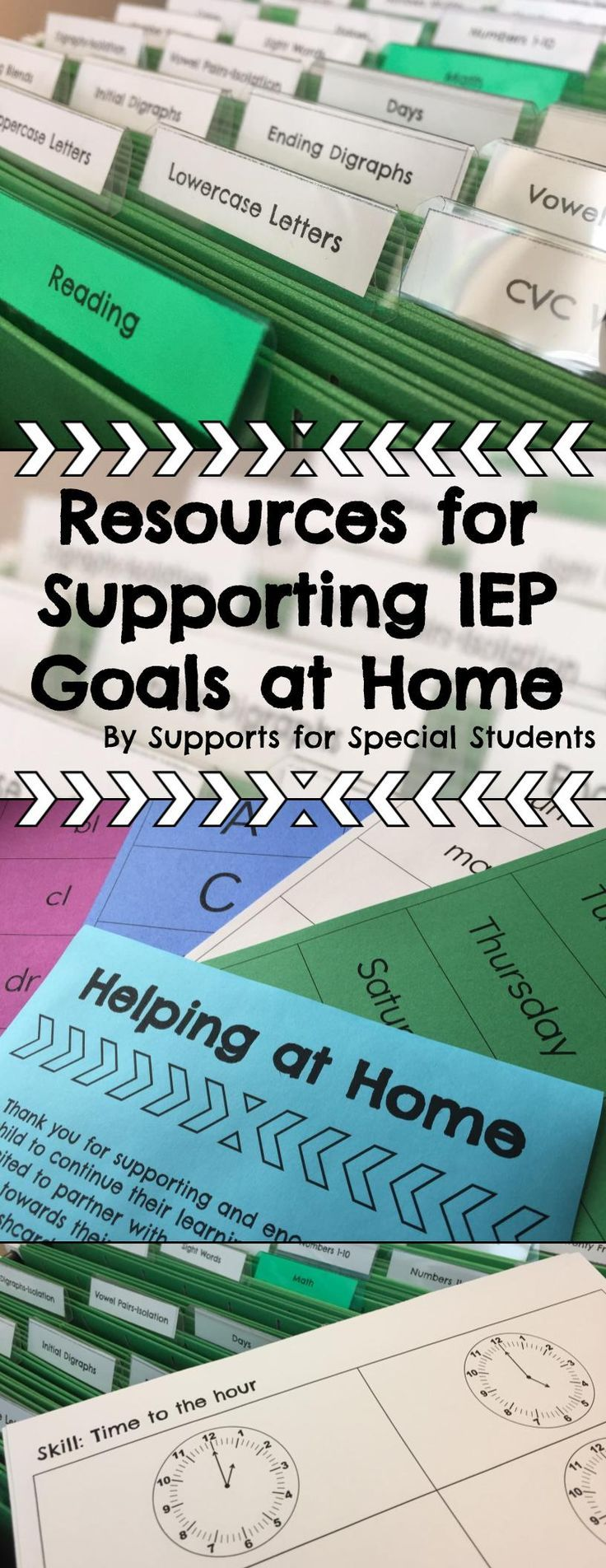 This resource is designed to save you time, while also providing families with the supports that they need to help their child meet their IEP goals. Included in this download you will find everything you need to create a system for storing a wide variety