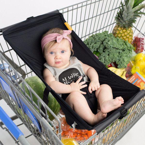 Binxy Baby Shopping Cart Hammock - Black | Shop Baby Registry Essentials That Make Life Easier at SugarBabies!