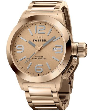 TW STEEL Canteen Style Collection RoseGold Stainless Steel