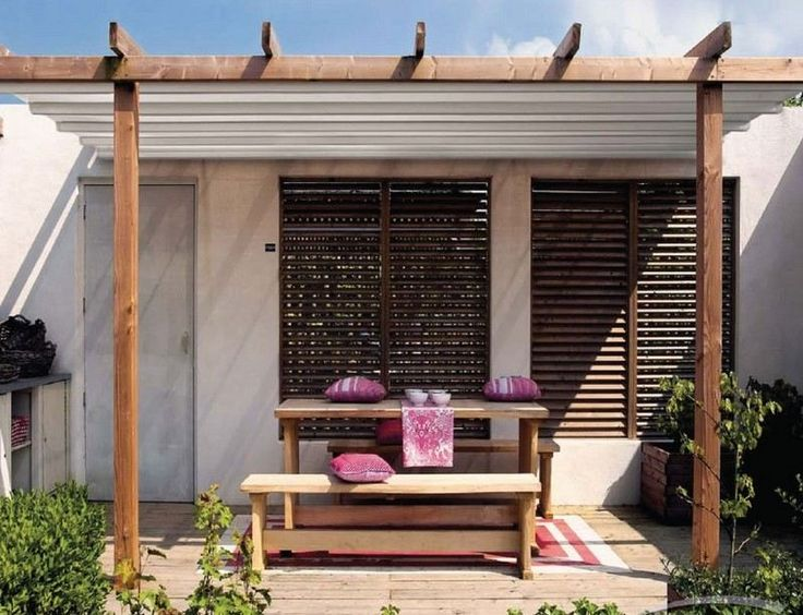 Top 25+ best Pergola adossée bois ideas on Pinterest | Auvent abri ...