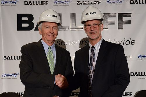 Balluff Groundbreaking Ceremony- KY Gov. Steve Beshear and Balluff Inc. President Kent Howard