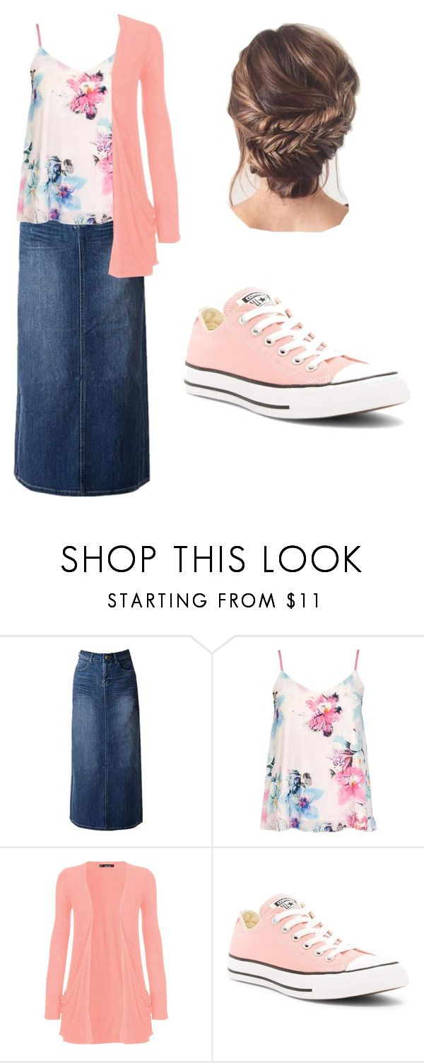 """""""pentecostal outfit #2"""" by dare2wear99 ❤ liked on Polyvore featuring Dorothy Perkins, WearAll and Converse"""