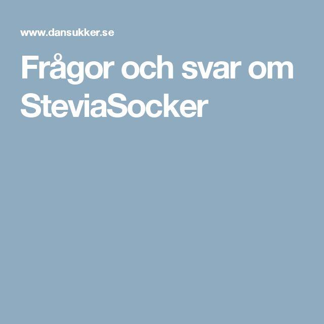 Frågor och svar om SteviaSocker