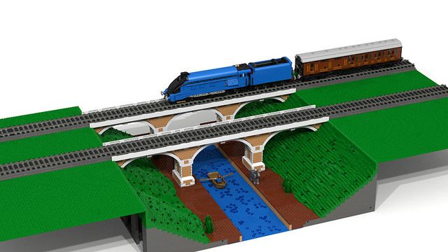 lego train bridge instructions