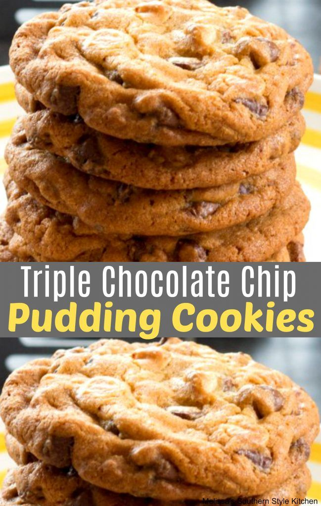 Triple Chocolate Chip Pudding Cookies Chocolate Chip Pudding Cookies Chocolate Chip Pudding Pudding Cookies