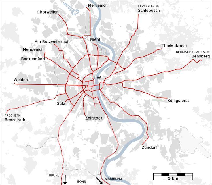 Colônia é uma das maiores e mais importantes cidades da Alemanha. O #Metrô de #Colônia não é um sistema comum, está mais para um sistema de metrôs e de trânsito rápido que em alguns pontos de seu percurso, sobretudo no centro da cidade, circula no subterrâneo. (É na verdade es um bonde subterrâneo). Este tipo de rede é denominado na Alemanha como Stadtbahn.