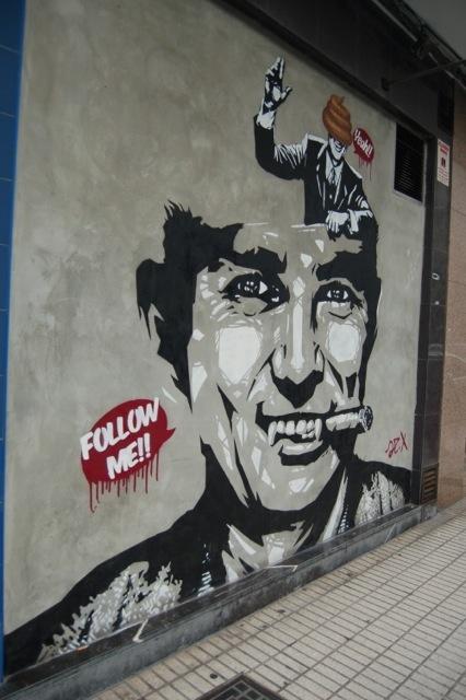 street art found in Gijon, Spain 2012