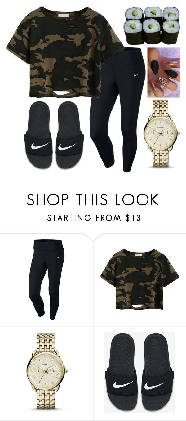 """""""💕548"""" by francescas22 ❤ liked on Polyvore featuring NIKE, FOSSIL and Jura"""