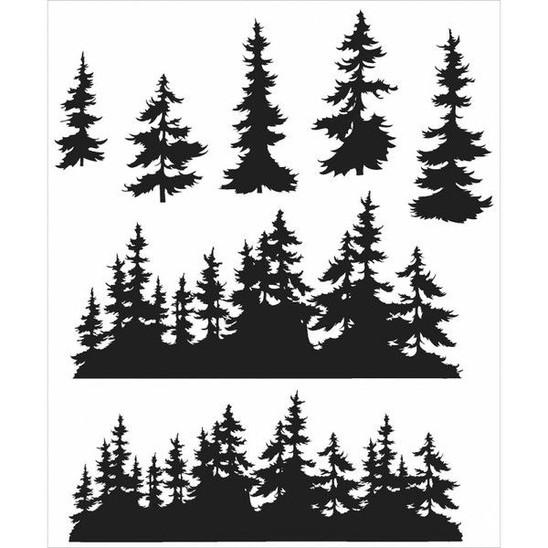 Tim Holtz Cling Rubber Stamp Set - Tree Line - Finally! Arriving on Tuesday 8th Dec :)