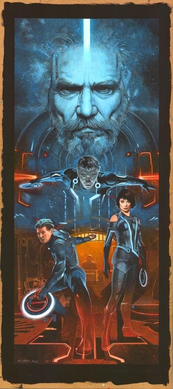 The Geeky Nerfherder: #ArtOfTheDay: 'Tron: Legacy' by Mark Raats