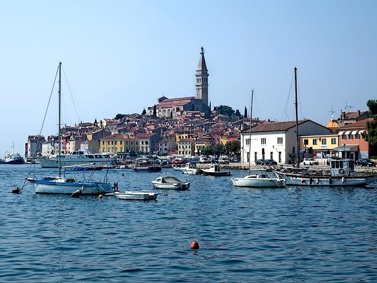 Town of Rovinj, Croatia, located on the Istrian Adriatic coast, was part of Italy until after World War II, thus both Croatian and Italian are official languages. Once a walled island, the channel separating it from the mainland was filled in in 1763, making it a peninsula.