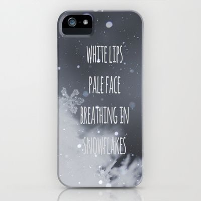 Snowflakes+iPhone+&+iPod+Case+by+SUNLIGHT+STUDIOS++Monika+Strigel+-+$35.00 ed sheeran