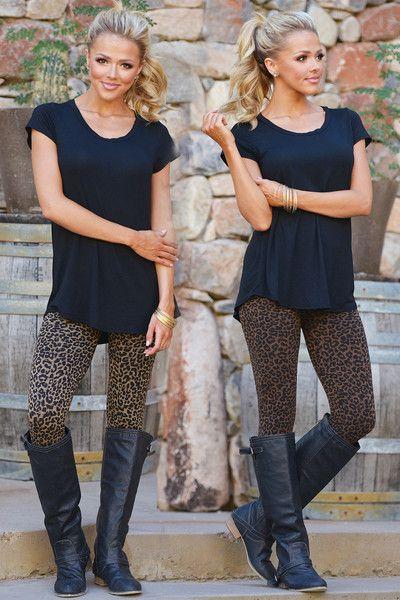 Leopard Leggings from Closet Candy Boutique #fashion #shop