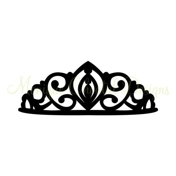 Princess Tiara  Silhouette by moniquechvatal on Etsy, $2.00