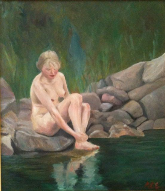 Painting by Swedish author & artist A.C. Efverman. Oil on canvas, inspired by Zorn. #art #paintings #fineart #artworks