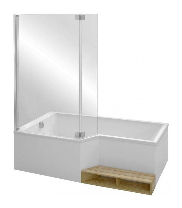 Baignoire douche160x70/90 cm Jacob delafon Neo - version gauche - CE6D000L_P_T - Plomberie sanitaire chauffage