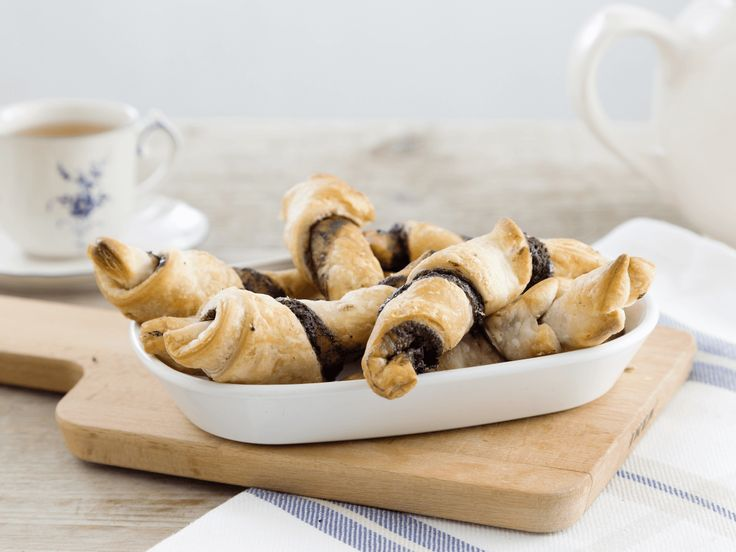Heerlijke chocolade croissants met bladerdeeg van Koopmans.