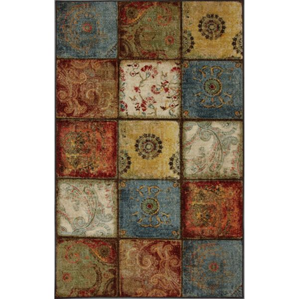 Artifact Panel Multi Nylon Rug (8' x 10') | Overstock.com Shopping - The Best Deals on 7x9 - 10x14 Rugs