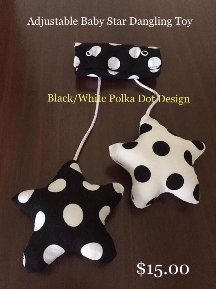 Image of Adjustable Baby Star Dangling Toy - Black & White Dot
