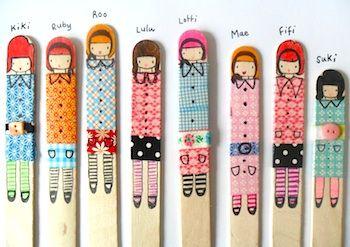 Teawagontales popsicle stick dollsLittle Girls, Little Crafts, For Kids, Diy Crafts, Masks Tape, Washi Tape, Washitape, Popsicles Sticks, Crafts Sticks