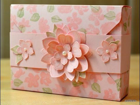Painted Petals Thank You Card Box - JanB UK Stampin' Up! Demonstrator - YouTube