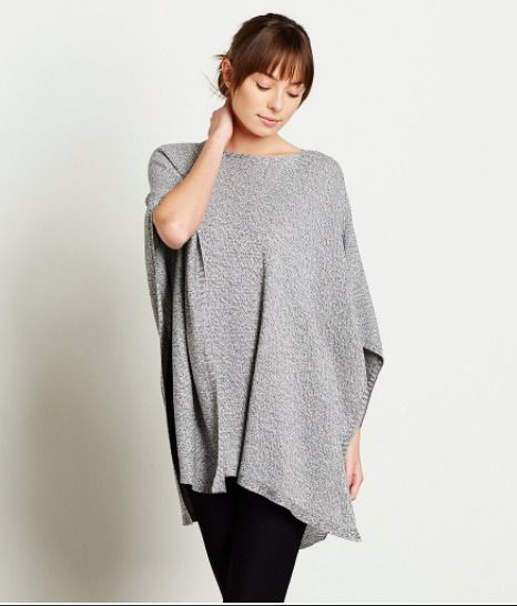 NWT Eileen Fisher Boat Neck Light-Weight Knit Poncho Top Tunic Silver/Gray – S/M  | eBay  #eileenfisher #knitwear #luxefashionfinds